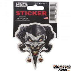 AUTOCOLLANT-STICKER LETHAL THREAT AIRBRUSH JESTER (7x11cm) (RC00038)