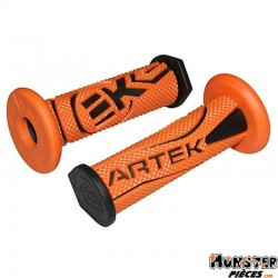 REVETEMENT POIGNEE ARTEK K1 ORANGE-NOIR (PAIRE)