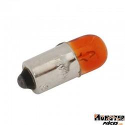 AMPOULE-LAMPE 12V  4W NORME T4W CULOT BA9S TEMOIN STANDARD ORANGE (CLIGNOTANT) (BOITE DE 10)  -SELECTION P2R-
