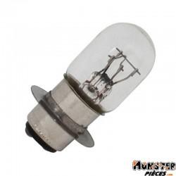 AMPOULE-LAMPE 12V 25-25W NORME T19 CULOT P15D25 STANDARD BLANC (PROJECTEUR QUAD 90,110,150cc) (BOITE DE 10)  -SELECTION P2R-