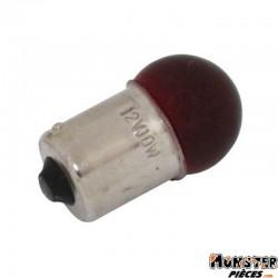 AMPOULE-LAMPE 12V 10W NORME G18.5 CULOT BA15S GRAISSEUR STANDARD ROUGE (FEU DE POSITION) (BOITE DE 10)  -SELECTION P2R-