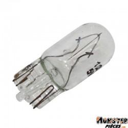 AMPOULE-LAMPE 12V  5W NORME T10 CULOT W2,1x9,5D WEDGE STANDARD BLANC (CLIGNOTANT) (BOITE DE 10)  -SELECTION P2R-