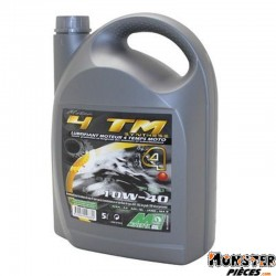 HUILE MOTEUR 4 TEMPS MINERVA MAXISCOOTER-MOTO 4TM SYNTHESE 10W40  (5L) (100% MADE IN FRANCE)