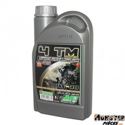 HUILE MOTEUR 4 TEMPS MINERVA MAXISCOOTER-MOTO 4TM SYNTHESE 10W40  (1L) (100% MADE IN FRANCE)