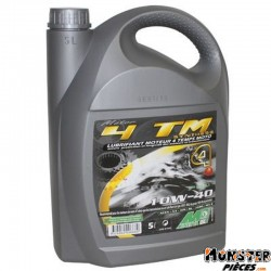 HUILE MOTEUR 4 TEMPS MINERVA MAXISCOOTER-MOTO 4TMR SYNTHESE 5W40 PRECONISE PAR PIAGGIO  (5L) (100% MADE IN FRANCE)