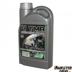 HUILE MOTEUR 4 TEMPS MINERVA MAXISCOOTER-MOTO 4TMR SYNTHESE 5W40 PRECONISE PAR PIAGGIO  (1L) (100% MADE IN FRANCE)