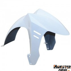 GARDE BOUE SCOOT AV ADAPTABLE PEUGEOT 50 LUDIX 14 POUCES BLANC BRILLANT