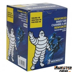 CHAMBRE A AIR 18'' 100-100-18  130-80-18 MICHELIN 18MFR VALVE TR4