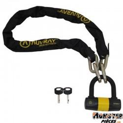 ANTIVOL A CHAINE AUVRAY K-BLOCK 1.20M MAILLON � 10mm AVEC CADENAS 100 x 110