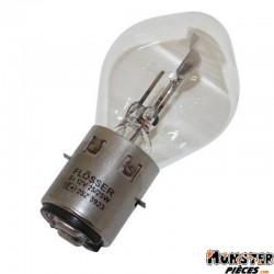 AMPOULE-LAMPE 12V 25-25W NORME S2 CULOT BA20D STANDARD BLANC (PROJECTEUR) (VENDU A L'UNITE)  -FLOSSER-