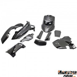 CARROSSERIE SCOOT BCD POUR MBK 50 BOOSTER 2004>-YAMAHA 50 BWS 2004> NOIR (KIT FULL) **
