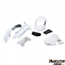 CARROSSERIE SCOOT BCD POUR MBK 50 BOOSTER 2004>-YAMAHA 50 BWS 2004> BLANC (KIT V2) **