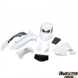 CARROSSERIE SCOOT BCD POUR MBK 50 BOOSTER 2004>-YAMAHA 50 BWS 2004> BLANC (KIT V1) **