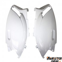 CARENAGE-COQUE AR SCOOT ADAPTABLE PIAGGIO 50 ZIP 2000> BLANC BRILLANT (PAIRE)