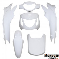 CARROSSERIE-CARENAGE MAXISCOOTER ADAPTABLE HONDA 125 SH  BLANC BRILLANT (KIT 6 PIECES)