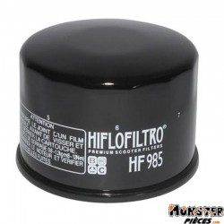 FILTRE A HUILE MAXISCOOTER HIFLOFILTRO POUR YAMAHA 500 TMAX 2001>2011, 530 TMAX 2012>-KYMCO 500 XCITING (68x50mm) (HF985)