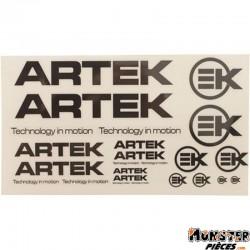 AUTOCOLLANT ARTEK NOIR-TRANSPARENT (1 PLANCHE DE 24 AUTOCOLLANTS 440mmx230mm)