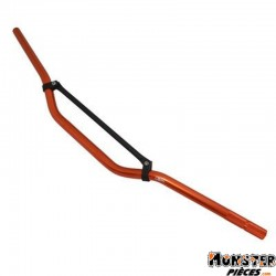 GUIDON 50 A BOITE REPLAY CROSS ALU ORANGE L810mm H50mm AVEC BARRE DE RENFORT