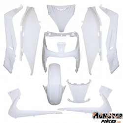 CARROSSERIE-CARENAGE MAXISCOOTER ADAPTABLE YAMAHA 125 XMAX 2006>2009-MBK 125 SKYCRUISER 2006>2007 BLANC BRILLANT (KIT 10 PIECES)