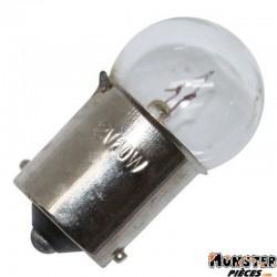 AMPOULE-LAMPE 12V 10W NORME R10W CULOT BA15S GRAISSEUR STANDARD BLANC (FEU DE POSITION) (BOITE DE 10)  -SELECTION P2R-