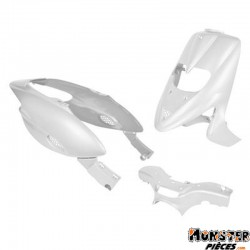 CARROSSERIE-CARENAGE SCOOT ADAPTABLE GILERA 50 STALKER BLANC BRILLANT (KIT 5 PIECES) (AVEC TRAPPE)
