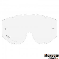 ECRAN LUNETTE-MASQUE CROSS PROGRIP 3111 ENFANT TRANSPARENT SIMPLE - ANTI-BUEE-ANTI-RAYURES-ANTI-U.V.
