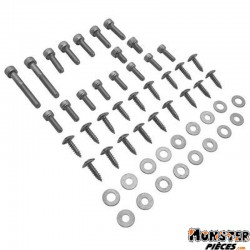 VIS DE CARROSSERIE REPLAY ACIER POUR MBK 50 BOOSTER NG, ROCKET-YAMAHA 50 BUMP, SPY  CHROME (KIT)