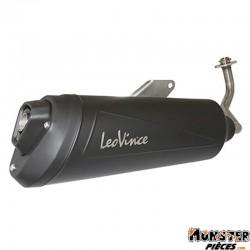 POT MAXISCOOTER LEOVINCE GRANTURISMO BLACK POUR HONDA 125 SH ABS 2013> (REF 9704B) (HOMOLOGUE CE)