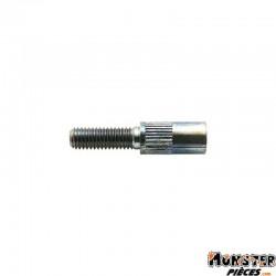 VIS CREUSE TENDEUR DE CABLE CYCLO M5 x 0,80 L29mm ALESAGE 5,9mm PERCAGE 2,2mm (BOITE DE 100) (ALGI 02111000)