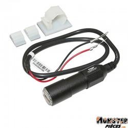 CHARGEUR USB SCOOT IPX5 1 PORT ETANCHE 2A EN ALU AVEC SUPPORT (FIL 50cm)