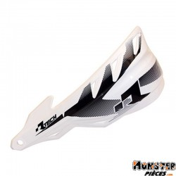 PROTEGE MAIN MOTOCROSS RTECH VERSION FERME RAPTOR BLANC (AVEC KIT DE MONTAGE) (MADE IN ITALY)