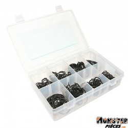 CIRCLIPS INTERIEUR + EXTERIEUR  19 - 22 - 25 - 35 mm (COFFRET 300 PIECES)  -SELECTION P2R-