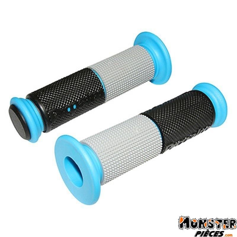 Revetement Poignee Replay 3d Noir Argent Bleu 125mm Collerette Diam