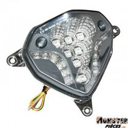 FEU AR SCOOT ADAPTABLE MBK 50 NITRO 2013>-YAMAHA 50 AEROX 2013> TRANSPARENT A LEDS AVEC CLIGNOTANTS   -REPLAY-