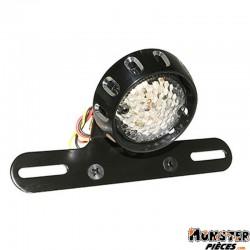 FEU ARRIERE A LEDS ROND NOIR (DIA 60mm) (HOMOLOGUE CE)  -REPLAY-