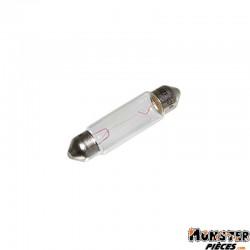 AMPOULE-LAMPE 24V 10W NORME C5W CULOT SV 8.5-11X40 NAVETTE BLANC (FEU DE POSITION) (VENDU A L UNITE)  -FLOSSER-