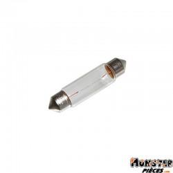 AMPOULE-LAMPE 12V 10W NORME C5W CULOT SV 8.5-11X40 NAVETTE BLANC (FEU DE POSITION) (VENDU A L UNITE)  -FLOSSER-