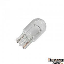 AMPOULE-LAMPE 12V 21W NORME W3W CULOT W3x16D WEDGE BLANC (COMPTEUR ET CLIGNOTANTS)  (BOITE DE 10)  -FLOSSER-