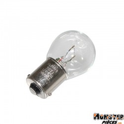 AMPOULE-LAMPE 12V 15W NORME P21W CULOT BA15S STANDARD BLANCHE (CLIGNOTANT) (BOITE DE 10)  -FLOSSER-