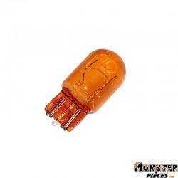 AMPOULE-LAMPE 12V 21-5W NORME W3W CULOT W3x16Q  WEDGE ORANGE (COMPTEUR ET CLIGNOTANTS)  (BOITE DE 10)  -FLOSSER-