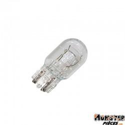 AMPOULE-LAMPE 12V 21-5W NORME W3W CULOT W3x16Q  WEDGE BLANC (COMPTEUR ET CLIGNOTANTS)  (BOITE DE 10)  -FLOSSER-