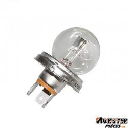 AMPOULE-LAMPE  6V 45-40W NORME R2 CULOT P45T STANDARD BLANC (PROJECTEUR) (VENDU A L'UNITE)  -FLOSSER-