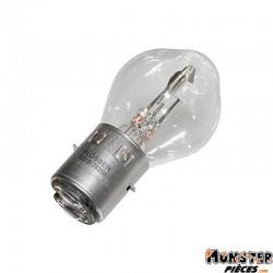 AMPOULE-LAMPE  6V 25-25W NORME S2 CULOT BA20D STANDARD BLANC (PROJECTEUR) (VENDU A L'UNITE)  -FLOSSER-