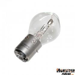 AMPOULE-LAMPE  6V 15-15W NORME S2 CULOT BA20D STANDARD BLANC (PROJECTEUR) (VENDU A L'UNITE)  -FLOSSER-