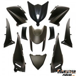 CARROSSERIE-CARENAGE MAXISCOOTER ADAPTABLE YAMAHA 530 TMAX 2012>2014 NOIR MAT (KIT 11 PIECES)