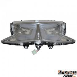 FEU AR MAXISCOOTER ADAPTABLE HONDA 125 PCX 2010> A LEDS AVEC CLIGNOTANTS TRANSPARENT (HOMOLOGUE CE)  -P2R-