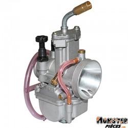 CARBURATEUR P2R PWK 28 POWER JET ENTRE AIR POLI AVEC COUDE TOURNANT (BOISSEAU PLAT) (TYPE KEIHIN)  -QUALITE PREMIUM-
