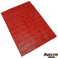 FEUILLE TOILE DE MEMBRANE CYCLO ADAPTABLE SOLEX ROUGE (210x300 mm)  SELECTION P2R-
