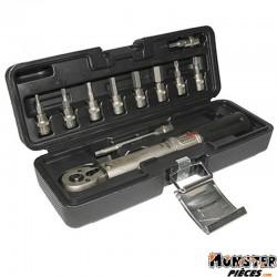 CLE DYNAMOMETRIQUE  2 A 24Nm  AVEC DOUILLES ALLEN  3-4-5-6-8-10mm ET TORX T20-T25-T30 (LIVRE DANS UNE MALETTE)