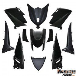 CARROSSERIE-CARENAGE MAXISCOOTER ADAPTABLE YAMAHA 530 TMAX 2012>2014 NOIR BRILLANT (KIT 11 PIECES)